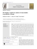 Developing a model for analysis of uncertainties in prediction of floods