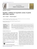 Boundary conditions for hyperbolic systems of partial differentials equations