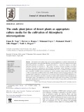 The crude plant juices of desert plants as appropriate culture media for the cultivation of rhizospheric microorganisms