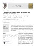 Combined coagulation flocculation pre treatment unit for municipal wastewater