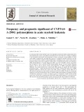 Frequency and prognostic significant of CYP3A4- A-290G polymorphism in acute myeloid leukemia