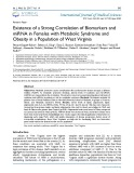 Existence of a strong correlation of biomarkers and miRNA in females with metabolic syndrome and obesity in a population of West Virginia