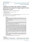 Trigeminal nerve block with alcohol for medically intractable classic trigeminal neuralgia: long-term clinical effectiveness on pain