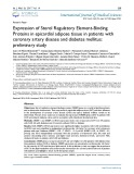 Expression of sterol regulatory element-binding proteins in epicardial adipose tissue in patients with coronary artery disease and diabetes mellitus: Preliminary study