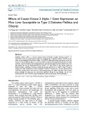 Effects of casein kinase 2 alpha 1 gene expression on mice liver susceptible to type 2 diabetes mellitus and obesity