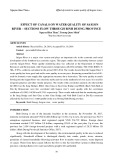 Effect of canals on water quality of Saigon river – sections flow through Binh Duong province