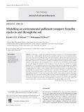 Modelling an environmental pollutant transport from the stacks to and through the soil