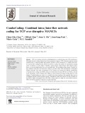 ComboCoding: Combined intra-/inter-flow network coding for TCP over disruptive MANETs