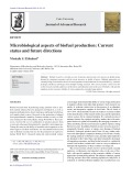 Microbiological aspects of biofuel production: Current status and future directions