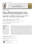 Impact of different biochemical markers in serum of patients with benign and malignant liver diseases