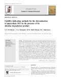 Stability-indicating methods for the determination of pipazethate HCl in the presence of its alkaline degradation product