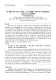 Sự biến đổi sinh kế của người Rục ở huyện Minh Hóa tỉnh Quảng Bình