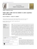 Saliva nitric oxide levels in relation to caries experience and oral hygiene