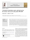 Assessment of particulate matter and lead levels in the Greater Cairo area for the period 1998–2007