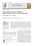 Multi-component fiber track modelling of diffusion-weighted magnetic resonance imaging data