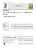 Road map for renewable energy research and development in Egypt
