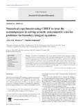 Numerical experiments using CHIEF to treat the nonuniqueness in solving acoustic axisymmetric exterior problems via boundary integral equations