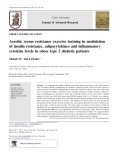 Aerobic versus resistance exercise training in modulation of insulin resistance, adipocytokines and inflammatory cytokine levels in obese type 2 diabetic patients