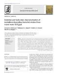 Isolation and molecular characterisation of malathion-degrading bacterial strains from waste water in Egypt