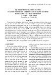 Dự đoán tính chất môi trường của một nhóm các chất hữu cơ sử dụng mô hình định lượng cấu trúc và độ tan