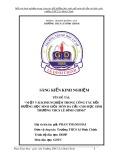 SKKN: Một vài kinh nghiệm trong công tác bồi dưỡng học sinh giỏi môn đá cầu cho học sinh trường THCS Lê Đình Chinh