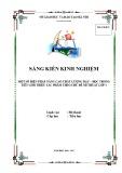 SKKN: Một số biện pháp nâng cao chất lượng dạy – học trong tiết Giới thiệu sản phẩm phân môn Mĩ thuật 1