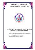 SKKN: Một số biện pháp phòng – Tránh tai nạn thương tích cho trẻ 3-4 tuổi ở trường mầm non