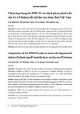 Thích ứng thang đo DMC-II vào đánh giá sự phát triển của trẻ ở 9 tháng tại khu vực nông thôn Việt Nam