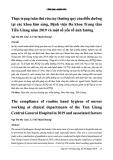 Thực trạng tuân thủ rửa tay thường quy của điều dưỡng tại các khoa lâm sàng, Bệnh viện Đa khoa Trung tâm Tiền Giang năm 2019 và một số yếu tố ảnh hưởng