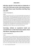 Kiến thức, thái độ về sức khỏe sinh sản vị thành niên và một số yếu tố liên quan của học sinh trường trung học cơ sở Bình Thành, huyện Thanh Bình, tỉnh Đồng Tháp năm 2019