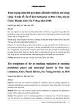 Thực trạng tuân thủ quy định cấm hút thuốc lá nơi công cộng và một số yếu tố ảnh hưởng tại xã Phú Tâm, huyện Châu Thành, tỉnh Sóc Trăng năm 2018