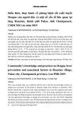 Kiến thức, thực hành về phòng bệnh sốt xuất huyết Dengue của người dân và một số yếu tố liên quan tại làng Huaylau, thành phố Pakse, tỉnh Champasack, CHDCND Lào năm 2019