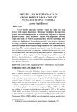Process and determinants of cross-border migration of Nepalese people to India