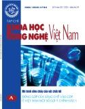 Tạp chí Khoa học và Công nghệ Việt Nam - Số 9A năm 2017