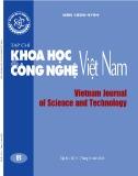 Tạp chí Khoa học và Công nghệ Việt Nam - Số 11B năm 2018