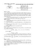 Đề thi chọn HSG cấp tỉnh môn Hóa học 9 năm 2010-2011 có đáp án - Sở GD&ĐT Lào Cai