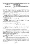 Đề thi chọn HSG cấp tỉnh môn Hóa học 9 năm 2011-2012 có đáp án - Sở GD&ĐT Long An