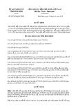 Quyết định số 02/2019/QĐ-UBND tỉnh Bình Định
