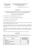 Quyết định số 01/2019/QĐ-UBND tỉnh Hòa Bình