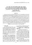 Các yếu tố ảnh hưởng đến thu nhập của người dân làng nghề truyền thống (làng nghề sơn mài Tương Bình Hiệp, tỉnh Bình Dương)