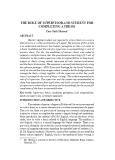 The role of supervisor and student for completing a thesis