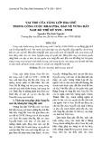 Vai trò của tầng lớp địa chủ trong công cuộc khai phá, bảo vệ vùng đất Nam Bộ thế kỷ XVII-XVIII