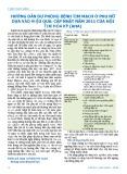Hướng dẫn dự phòng bệnh tim mạch ở phụ nữ dựa vào hiệu quả: Cập nhật năm 2011 của Hội Tim Hoa Kỳ (AHA)
