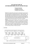 Các giải pháp thiết kế hệ thống điều khiển cho dây chuyền phối liệu