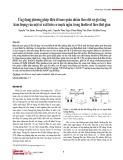 Ứng dụng phương pháp điện di mao quản nhằm theo dõi sự gia tăng hàm lượng của một số axit hữu cơ mạch ngắn trong biodiesel theo thời gian