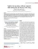 Nghiên cứu mạ niken-volfram compozit định hướng thay thế lớp mạ crôm cứng