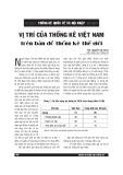 Vị trí của Thống kê Việt Nam trên bản đồ thống kê khu vực và thế giới