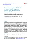 Estimates and Spatial Distribution of Emissions from Sugar Cane Bagasse Fired Thermal Power Plants in Brazil