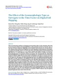 The Effect of the Geomorphologic Type as Surrogate to the Time Factor on Digital Soil Mapping