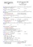 Đề thi học kì 1 môn Hóa học 10 có đáp án - Trường Cao đẳng Bách Việt
